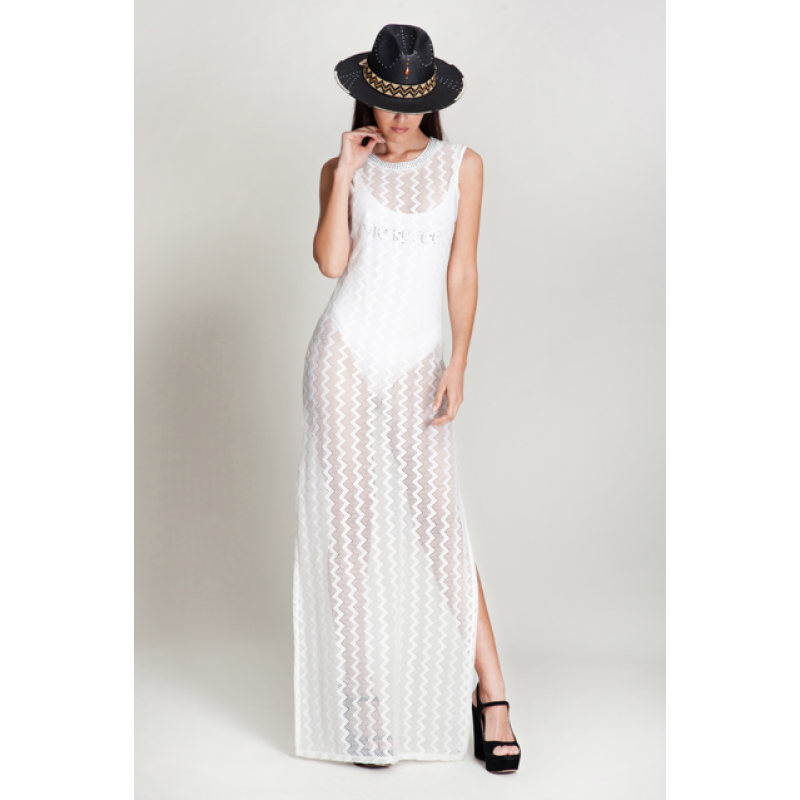 Olivia Maxi Lace White Dress