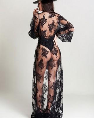Ashlyn Black Kimono