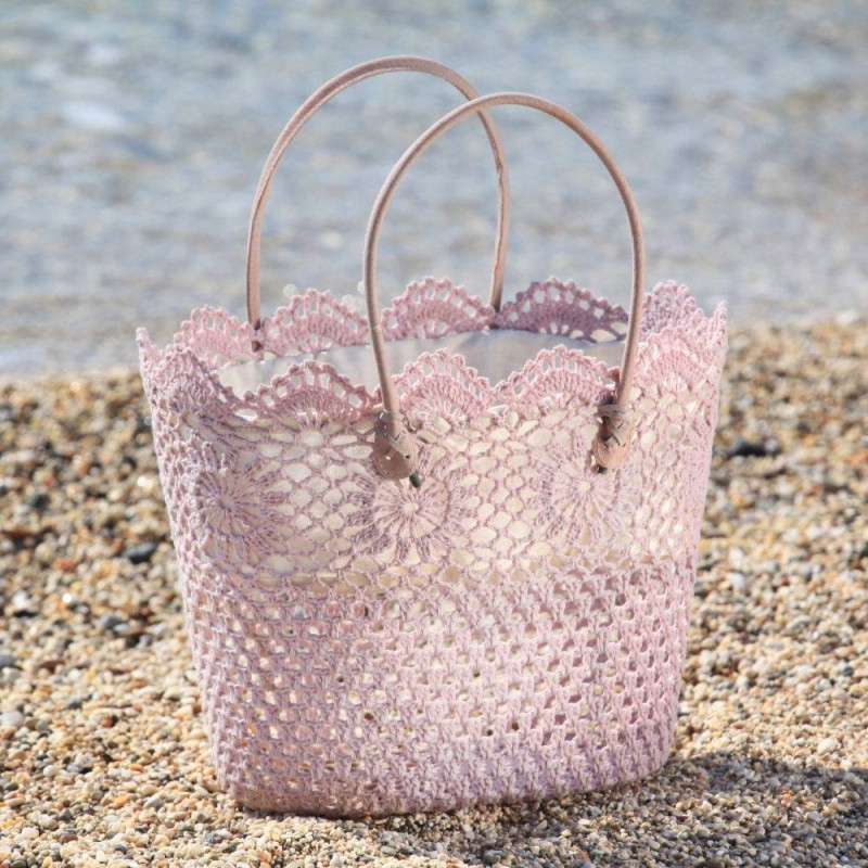 Elounda Rose Crochet Bag