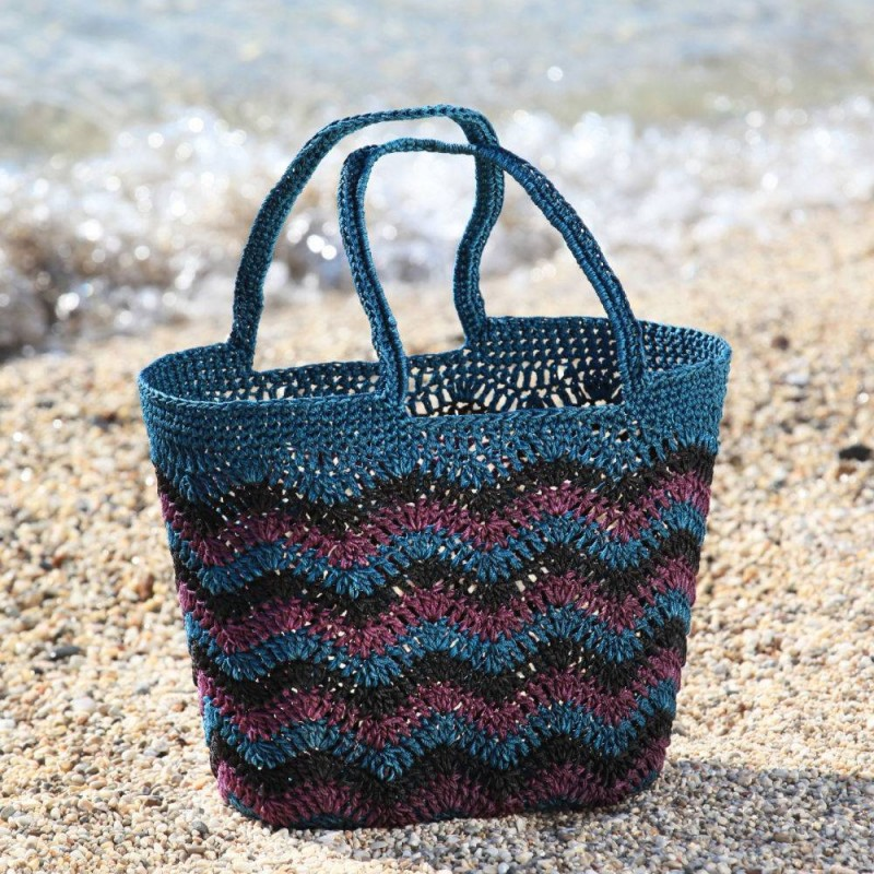 Santorini Teal Green Crochet Bag