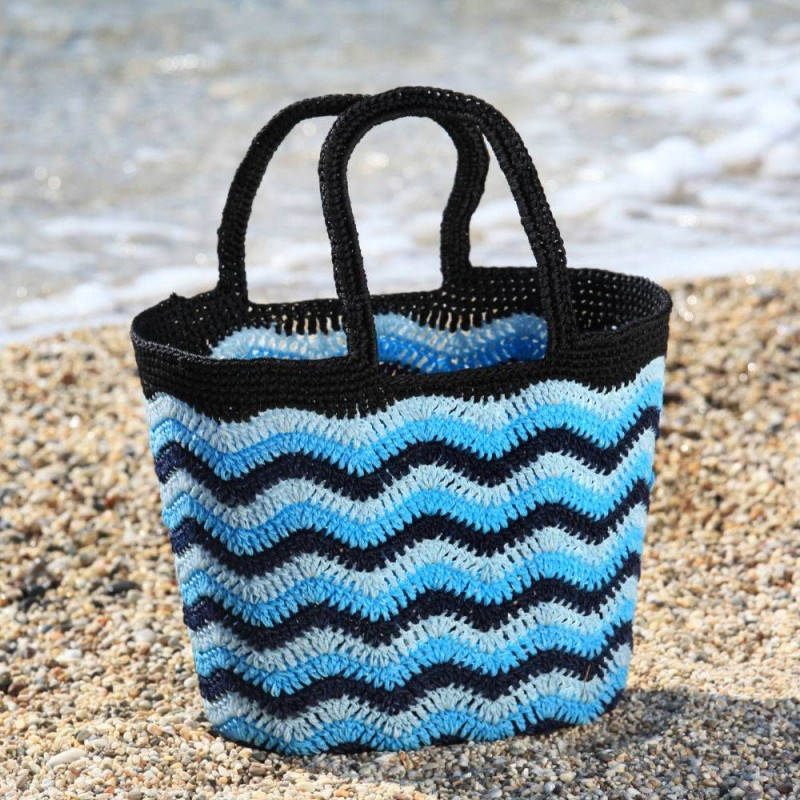 Santorini Blue Crochet Bag