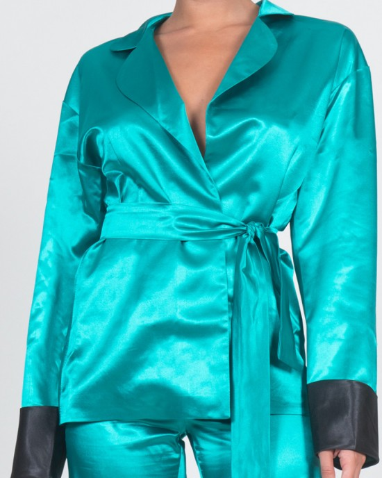 Leo Teal Green Blazer