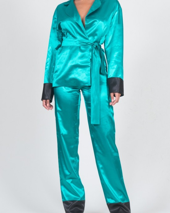 Leo Teal Green Pants