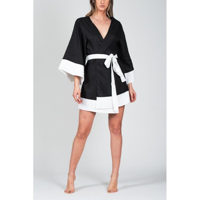 Casablanca Black Kimono