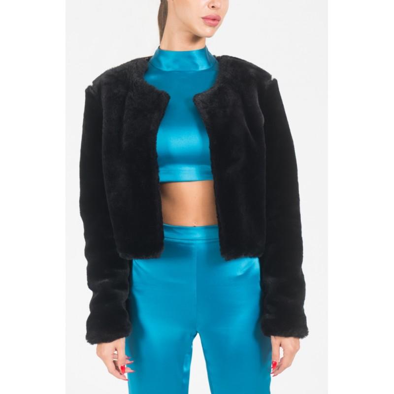 Pasadena faux black fur