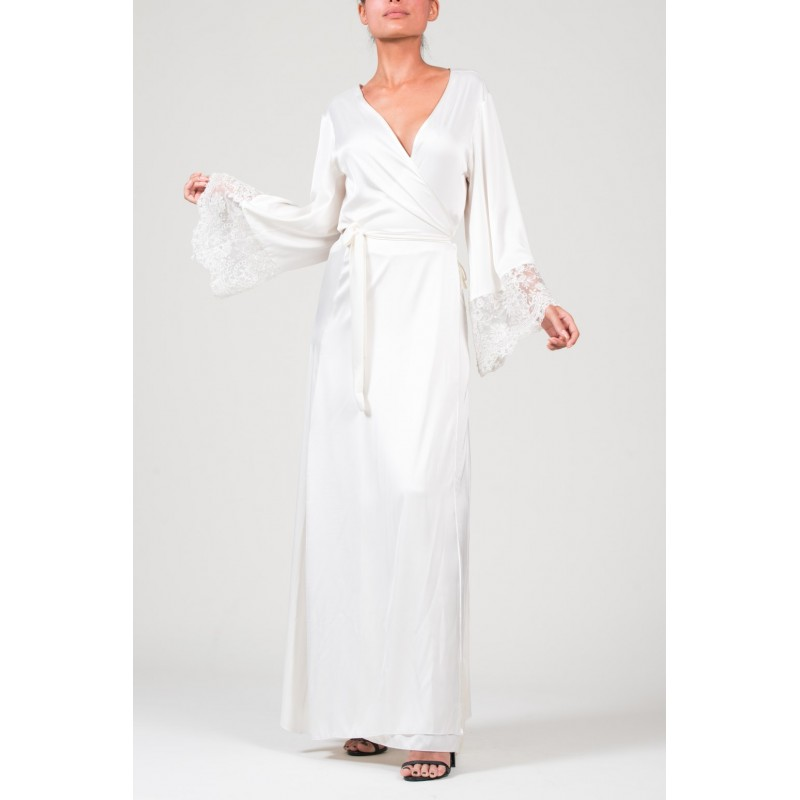 Encaje White Kimono