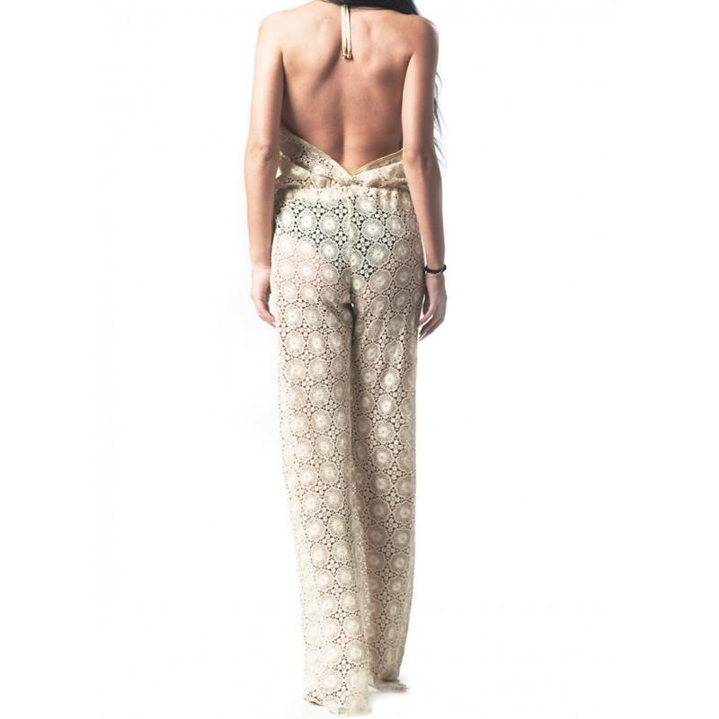 Melanie Gold Lace Jumpsuit